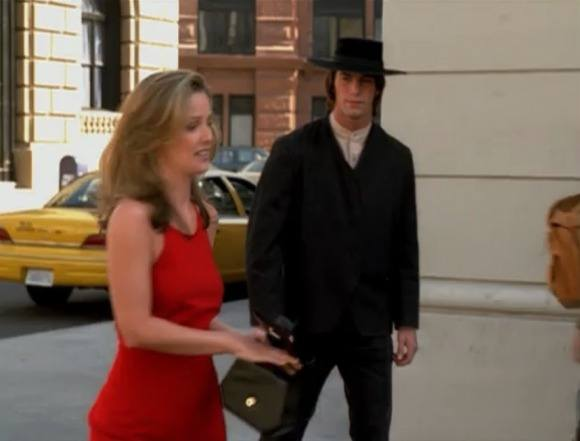 Also, the show has never been so horridly dated to the 90s as it is here. There was only one time that women wore shit like that, and it was on Ally McBeal.